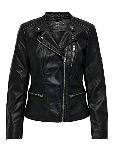 ONLY Female Jacke Lederlook schwarz