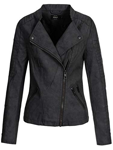 ONLY Female Jacke Leder-Look schwarz