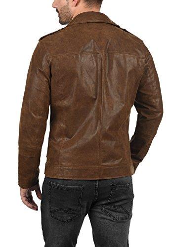 SOLID Mash Herren Lederjacke Echtleder Bikerjacke mit zahlreichen Metall-Details aus 100% Leder - 4