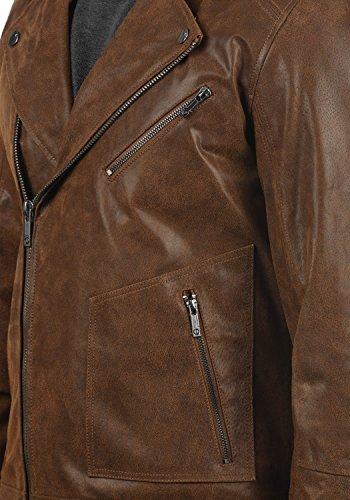 SOLID Mash Herren Lederjacke Echtleder Bikerjacke mit zahlreichen Metall-Details aus 100% Leder - 5