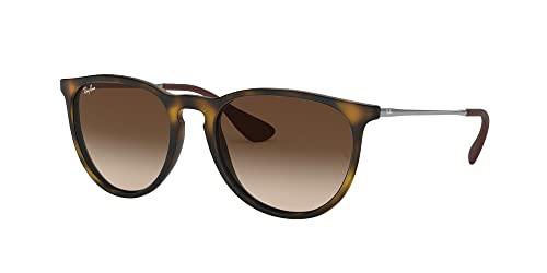 Ray Ban Unisex Sonnenbrille Erika Classic, Havana/Gunmetal, Gläser: Braun - 2