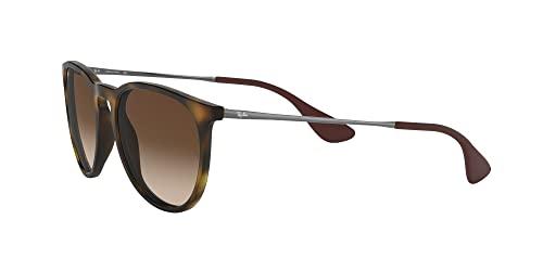 Ray Ban Unisex Sonnenbrille Erika Classic, Havana/Gunmetal, Gläser: Braun - 3