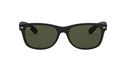 Ray-Ban Unisex Sonnenbrille New Wayfarer, Größe: 55, Schwarz