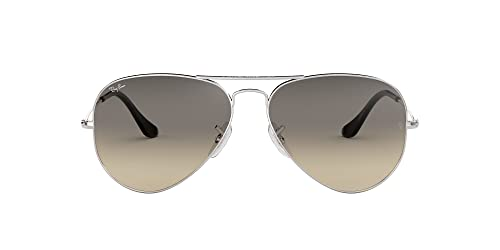 Ray Ban Unisex Sonnenbrille Aviator, Large, Silber