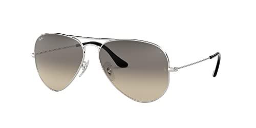 Ray Ban Unisex Sonnenbrille Aviator, Large, Silber - 2