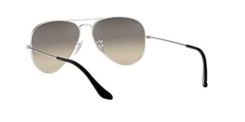 Ray Ban Unisex Sonnenbrille Aviator, Large, Silber - 6