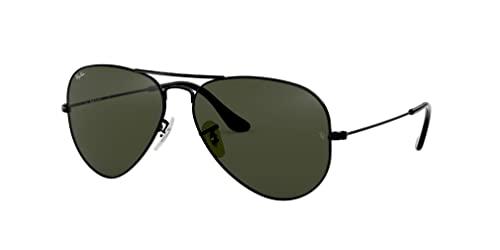 Ray Ban Unisex Sonnenbrille Aviator (Gestell: schwarz, Gläser: grau grün) - 2