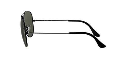 Ray Ban Unisex Sonnenbrille Aviator (Gestell: schwarz, Gläser: grau grün) - 4