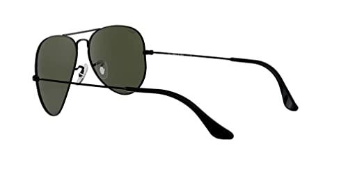 Ray Ban Unisex Sonnenbrille Aviator (Gestell: schwarz, Gläser: grau grün) - 5