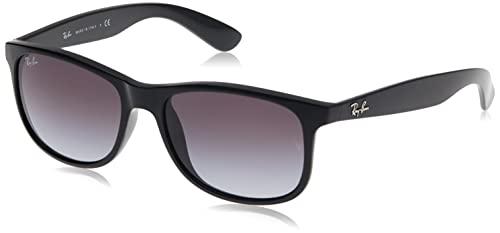 Ray Ban Unisex Sonnenbrille Andy, Herstellergröße: 55, Gestell: Schwarz, Gläser: Grün