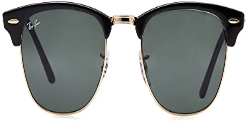 Ray Ban Unisex Sonnenbrille ,Herstellergröße: 49, Gestell: Schwarz/Gold, Gläser: Grün - 2