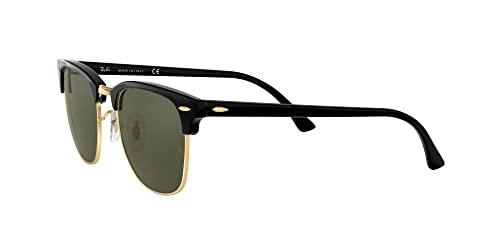 Ray Ban Unisex Sonnenbrille ,Herstellergröße: 49, Gestell: Schwarz/Gold, Gläser: Grün - 3