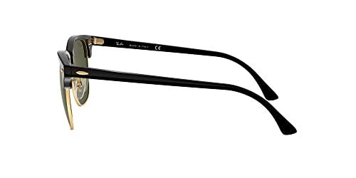 Ray Ban Unisex Sonnenbrille ,Herstellergröße: 49, Gestell: Schwarz/Gold, Gläser: Grün - 4