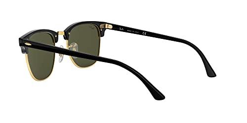 Ray Ban Unisex Sonnenbrille ,Herstellergröße: 49, Gestell: Schwarz/Gold, Gläser: Grün - 5
