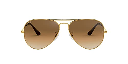 Ray Ban Unisex Aviator Sonnenbrille, Gestell: Gold, Gläser: Kristall braun