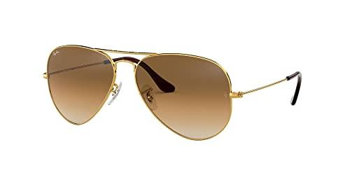 Ray Ban Unisex Aviator Sonnenbrille, Gestell: Gold, Gläser: Kristall braun - 2