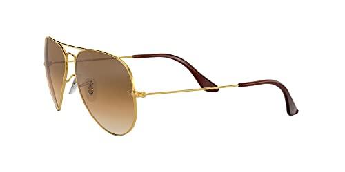 Ray Ban Unisex Aviator Sonnenbrille, Gestell: Gold, Gläser: Kristall braun - 3