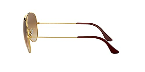 Ray Ban Unisex Aviator Sonnenbrille, Gestell: Gold, Gläser: Kristall braun - 4