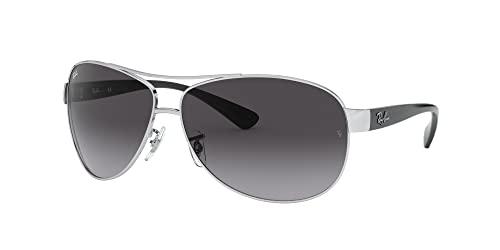 Ray Ban Unisex Sonnenbrille RB3386, Herstellergröße: 63, Gestell: Silber/Schwarz, Gläser: Grau - 2