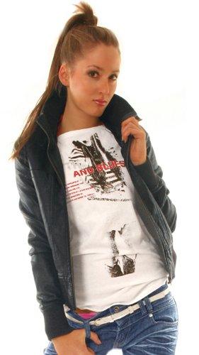 Bestyledberlin Damen Kunst - Lederjacken, Biker Jacke Damen, Blouson ja55 36/S Schwarz -